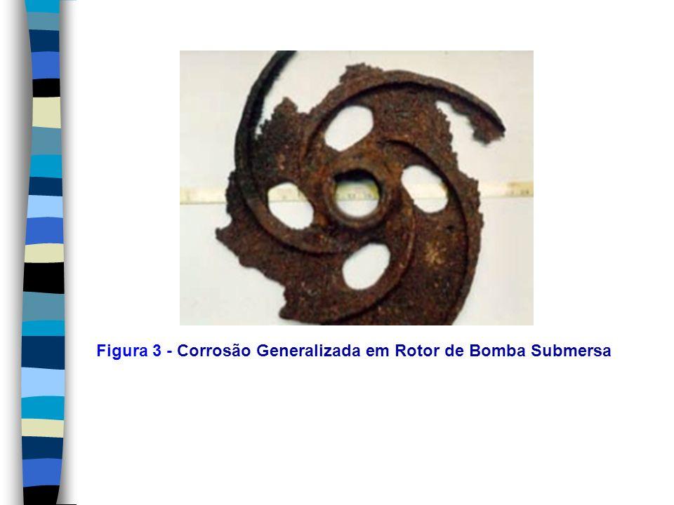 Figura 3 - Corrosão Generalizada em Rotor de Bomba Submersa