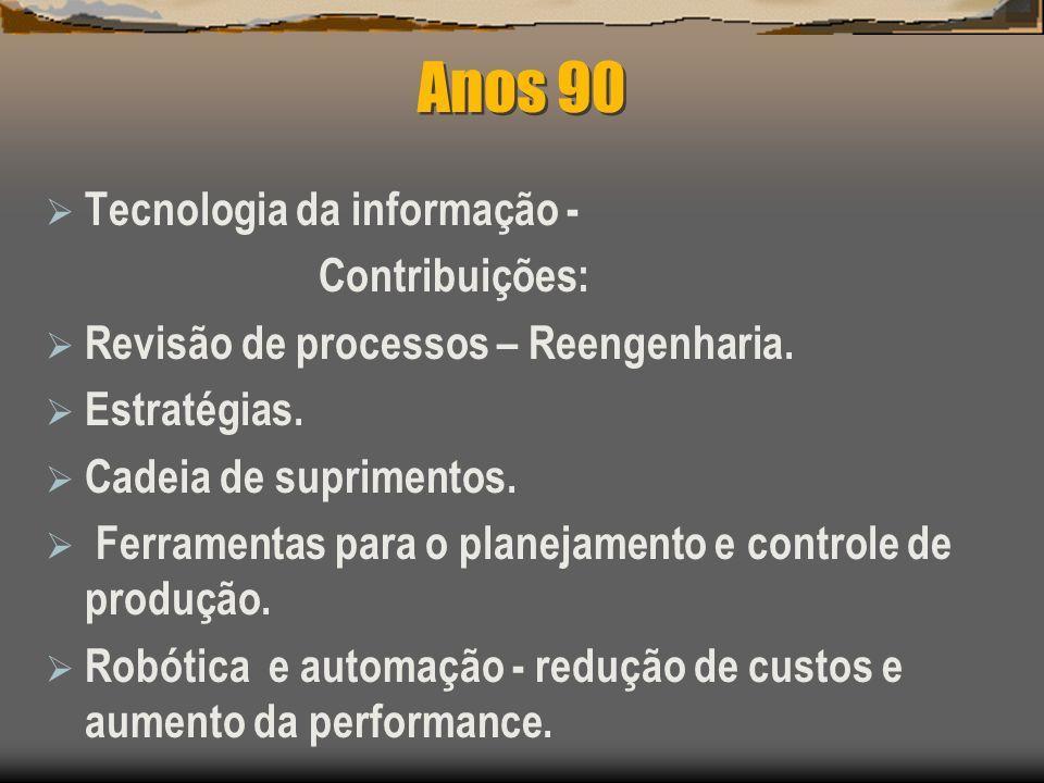 Anos 90 Tecnologia da informação - Contribuições: