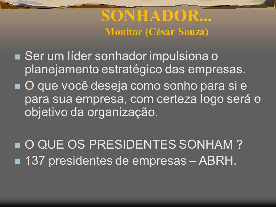SONHADOR... Monitor (César Souza)