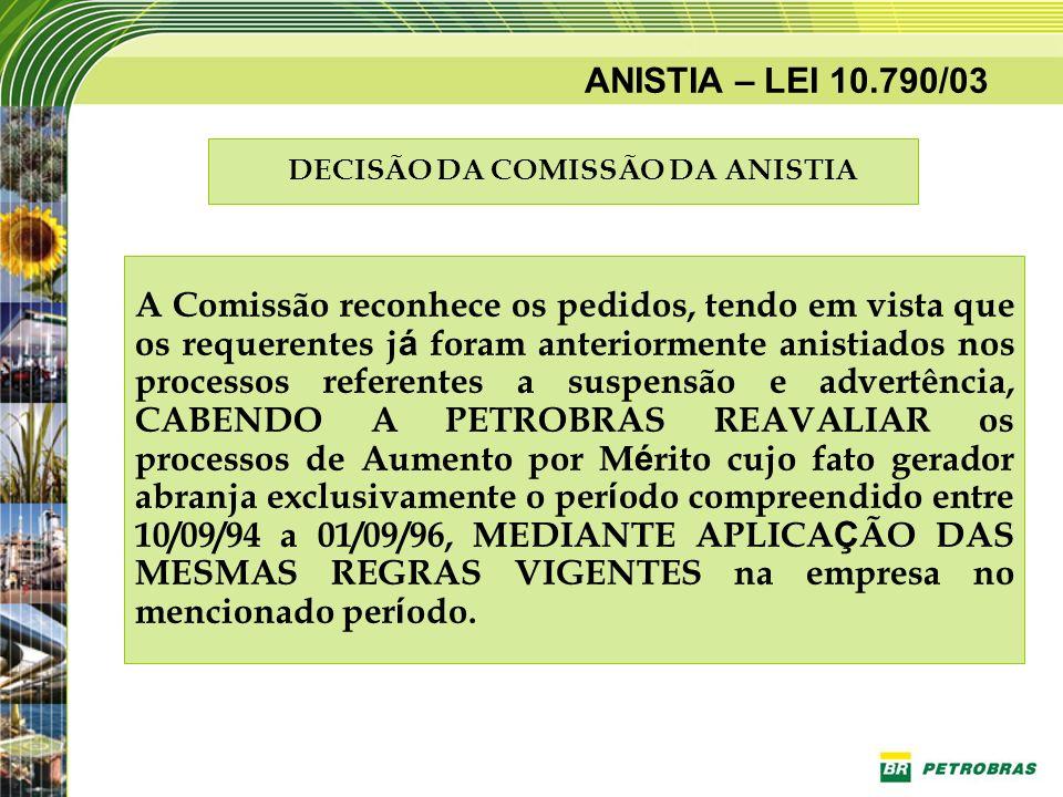 DECISÃO DA COMISSÃO DA ANISTIA