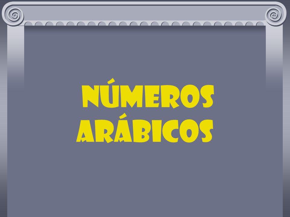 números ARÁBICOS