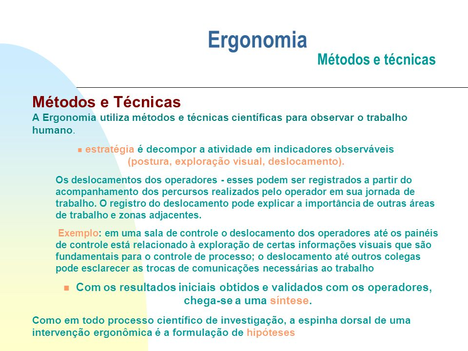 Ergonomia Métodos e técnicas