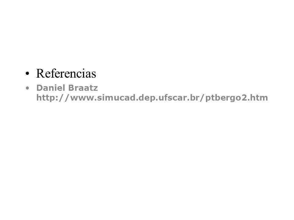 Referencias Daniel Braatz http://www.simucad.dep.ufscar.br/ptbergo2.htm