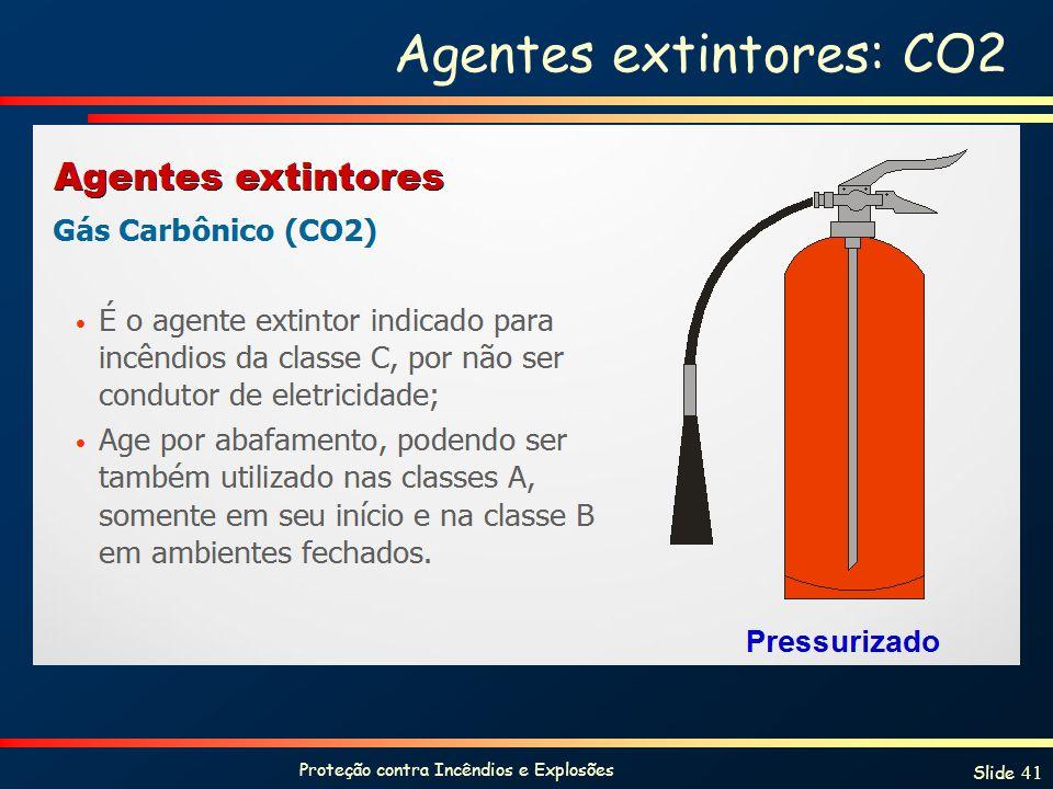 Agentes extintores: CO2