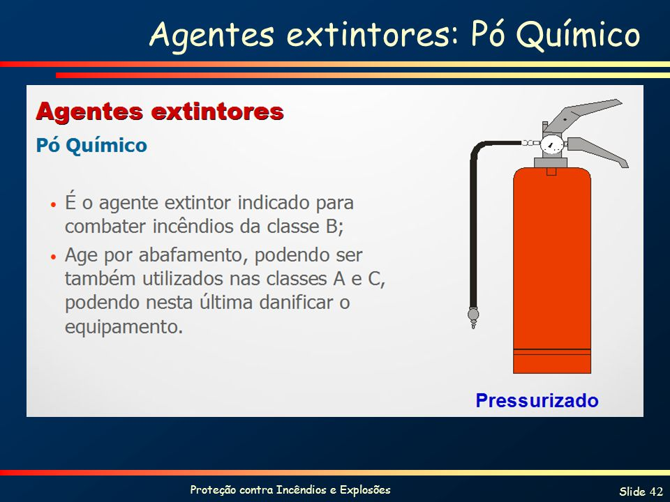 Agentes extintores: Pó Químico