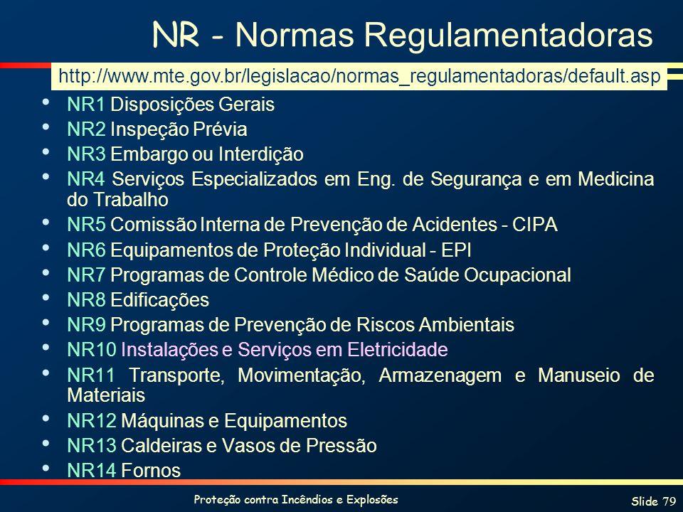NR - Normas Regulamentadoras