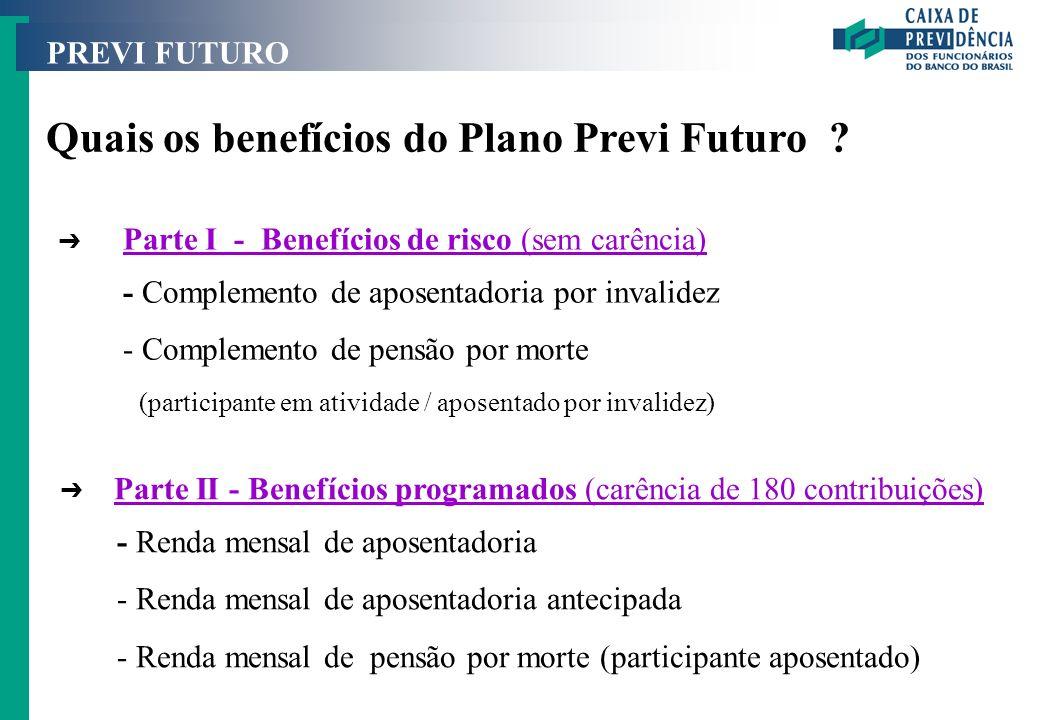Quais os benefícios do Plano Previ Futuro