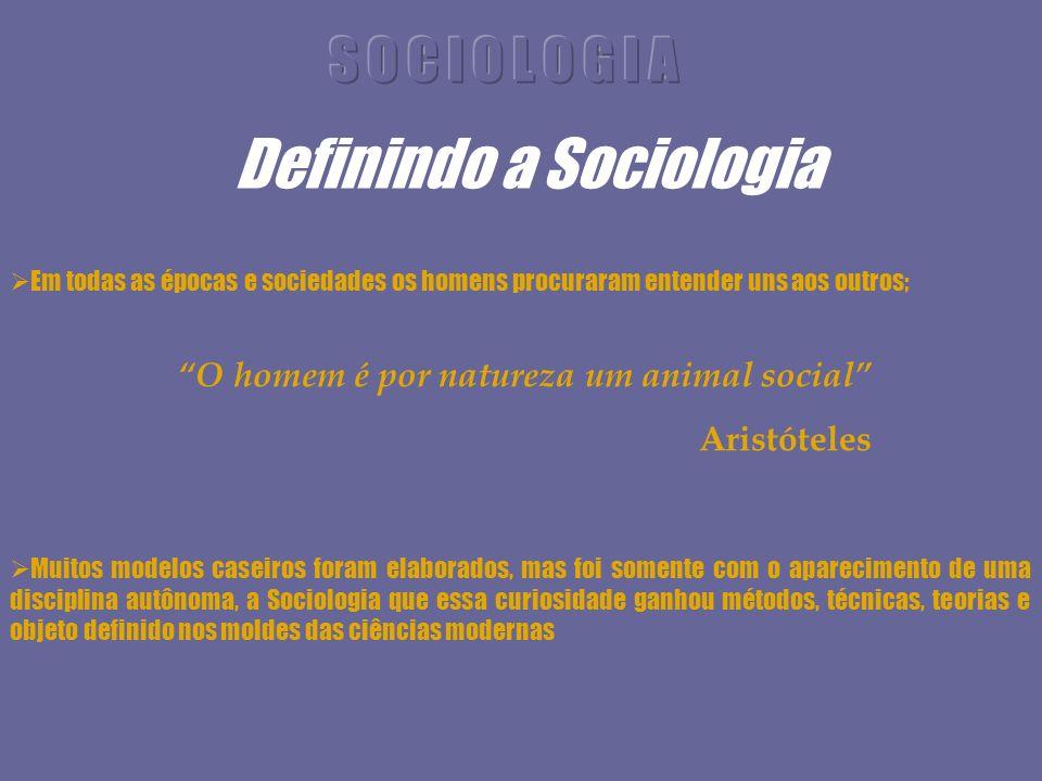 Definindo a Sociologia