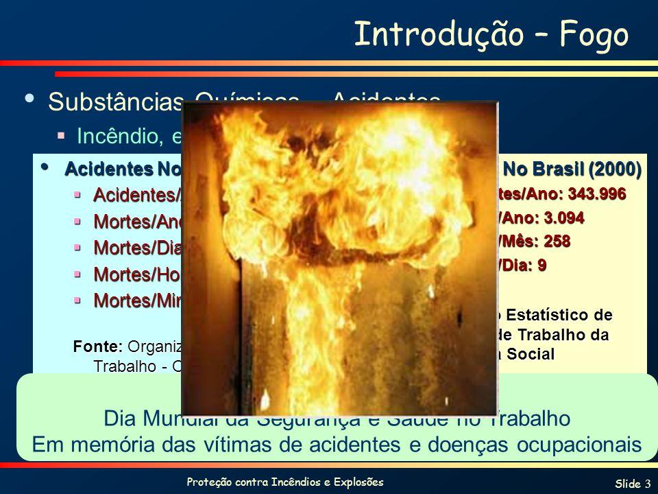 Introdução – Fogo Substâncias Químicas – Acidentes