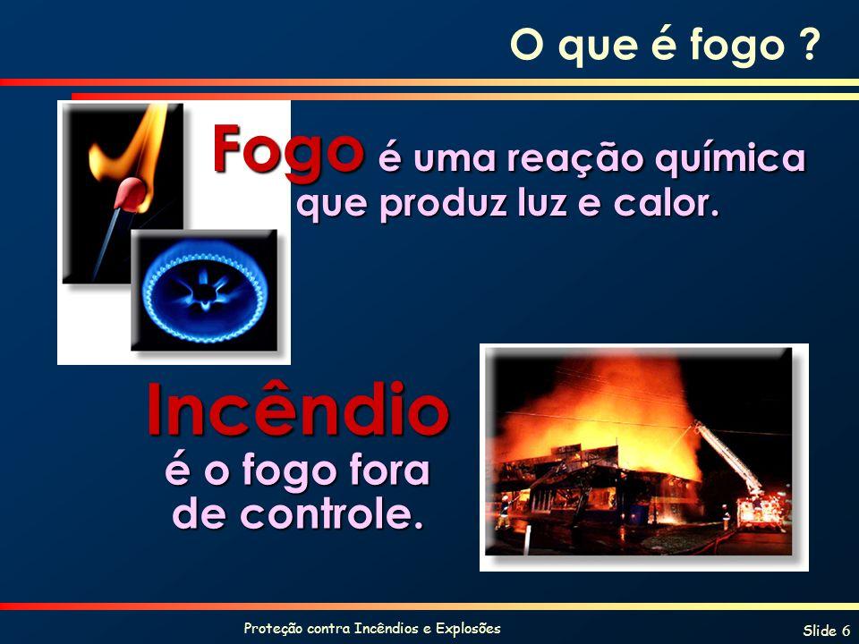 Incêndio é o fogo fora de controle.