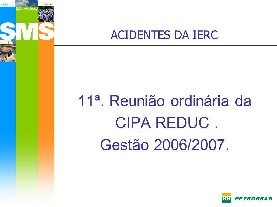 11ª. Reunião ordinária da CIPA REDUC . Gestão 2006/2007.