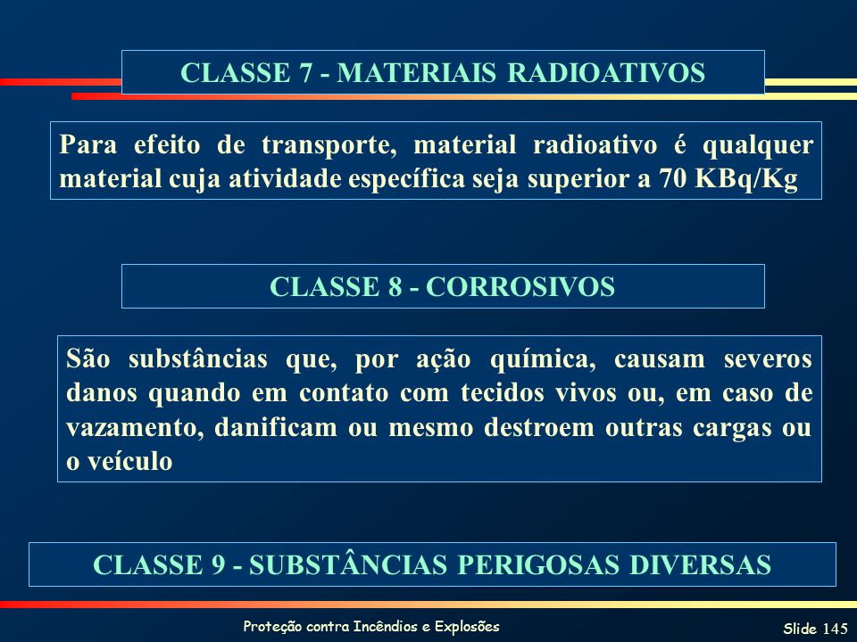 CLASSE 7 - MATERIAIS RADIOATIVOS