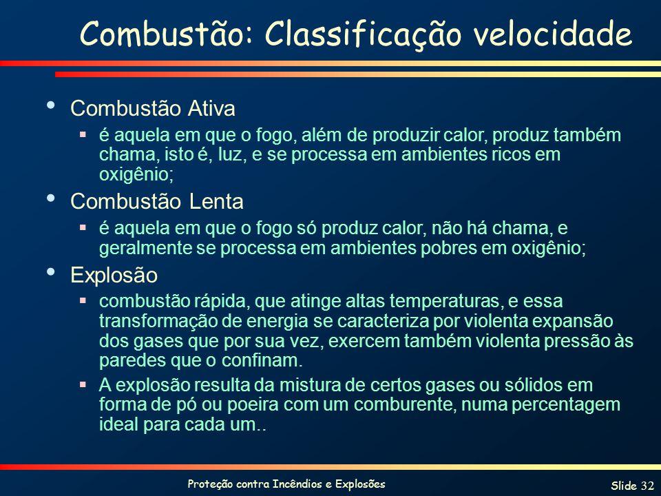 Combustão: Classificação velocidade