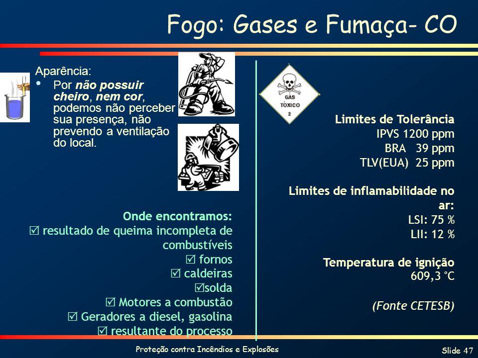 Fogo: Gases e Fumaça- CO