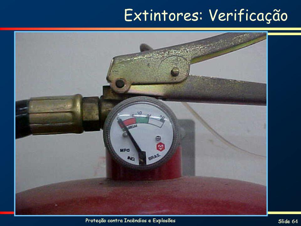 Extintores: Verificação