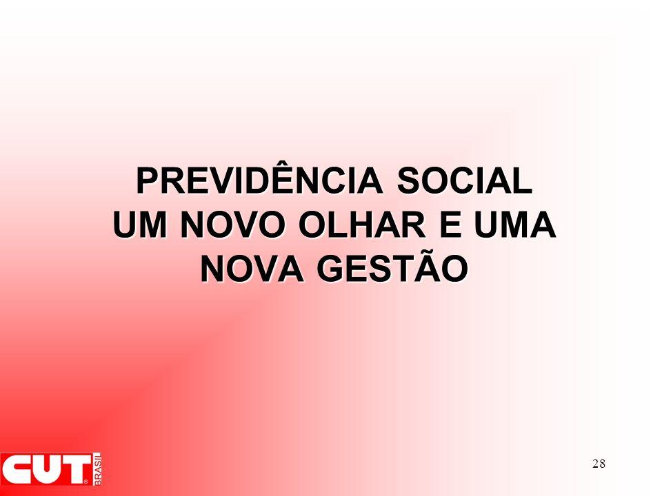 PREVIDÊNCIA SOCIAL UM NOVO OLHAR E UMA NOVA GESTÃO