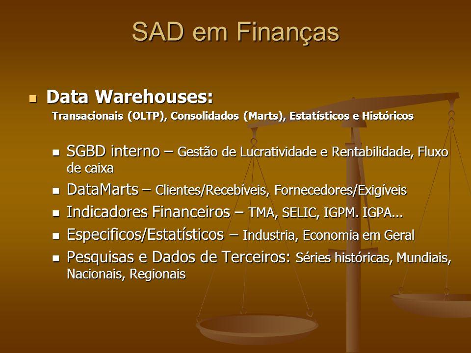 SAD em Finanças Data Warehouses: