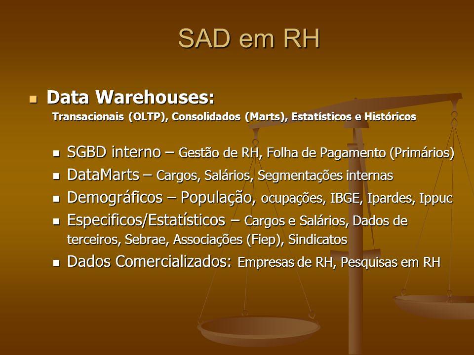 SAD em RH Data Warehouses: