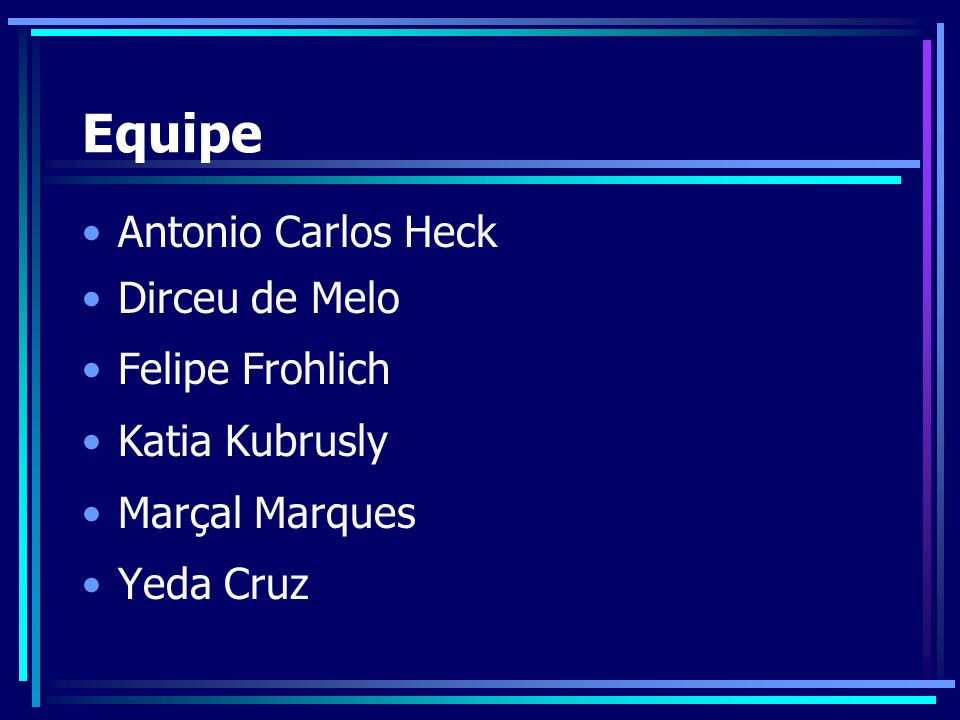 Equipe Antonio Carlos Heck Dirceu de Melo Felipe Frohlich