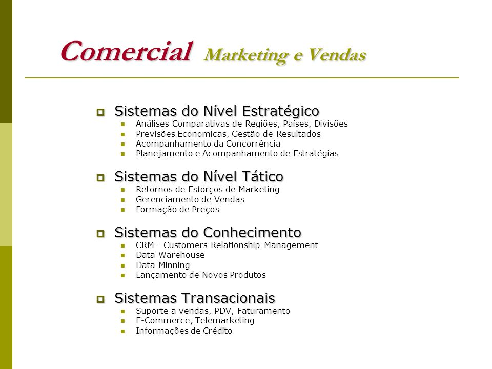 Comercial Marketing e Vendas