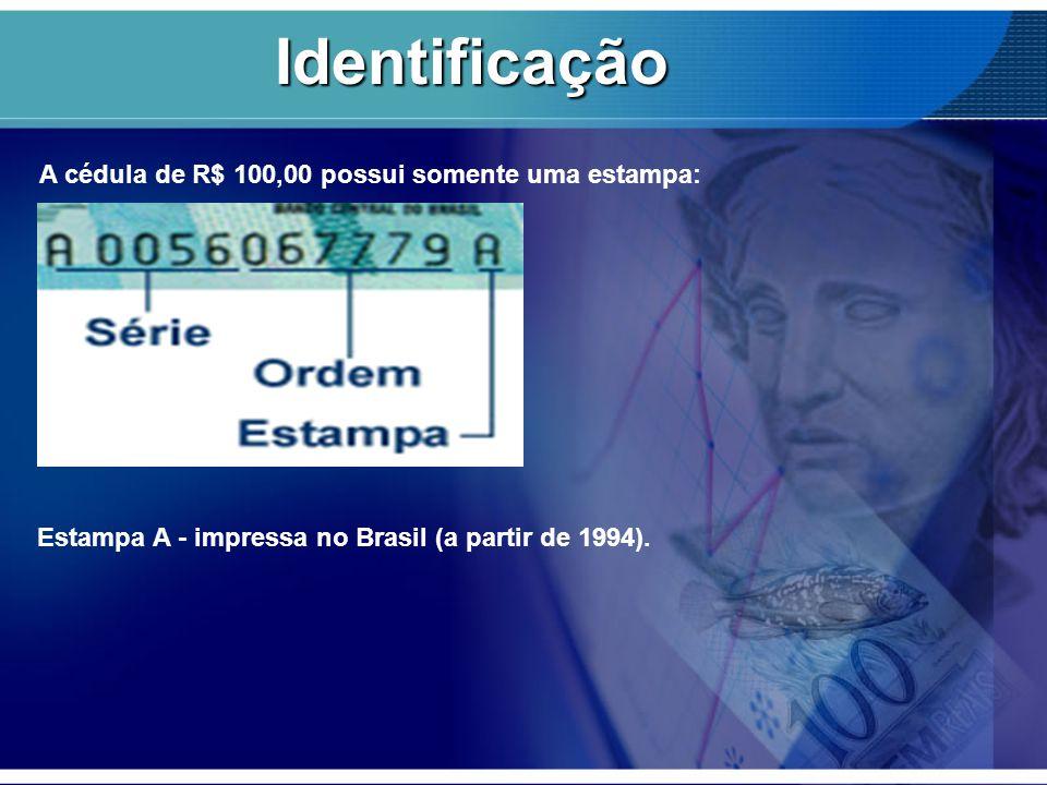 Identificação Estampa A - impressa no Brasil (a partir de 1994).