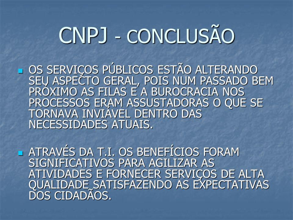 CNPJ - CONCLUSÃO