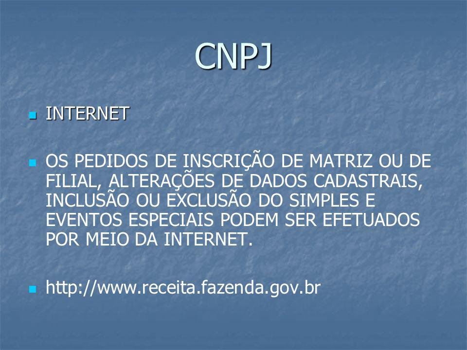 CNPJ INTERNET.