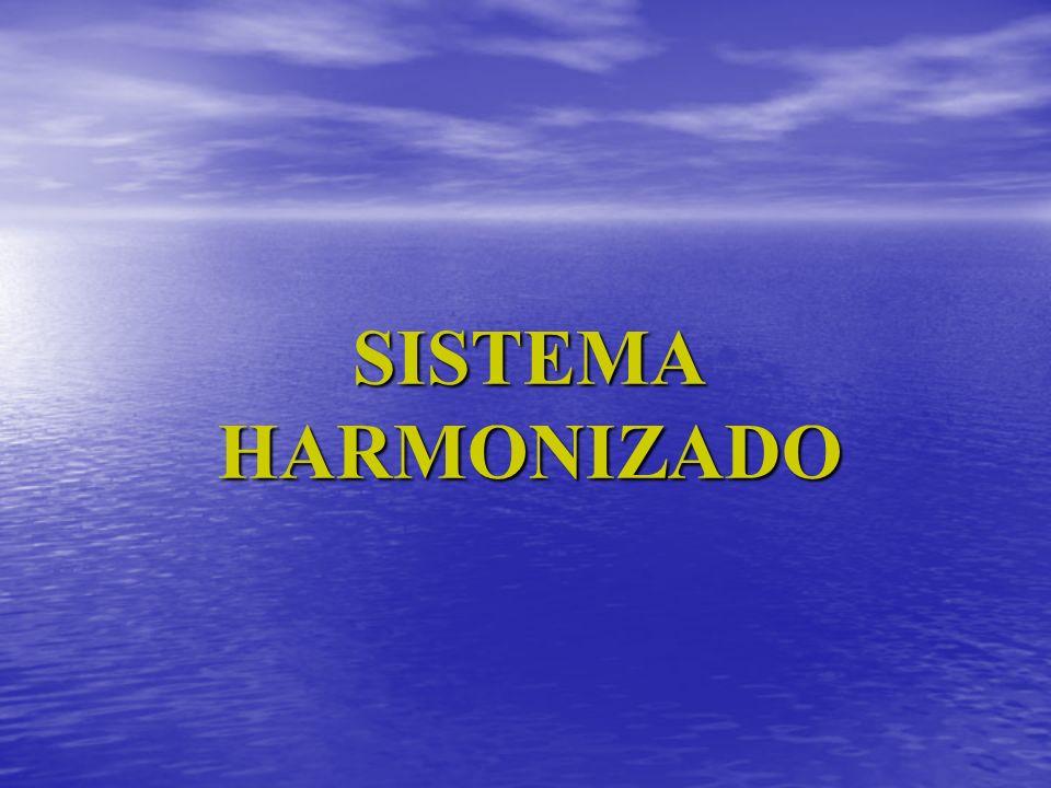 SISTEMA HARMONIZADO