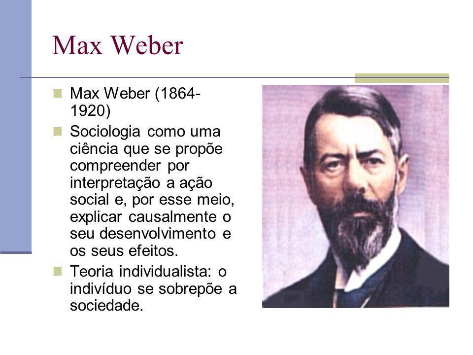 Max Weber Max Weber (1864-1920)