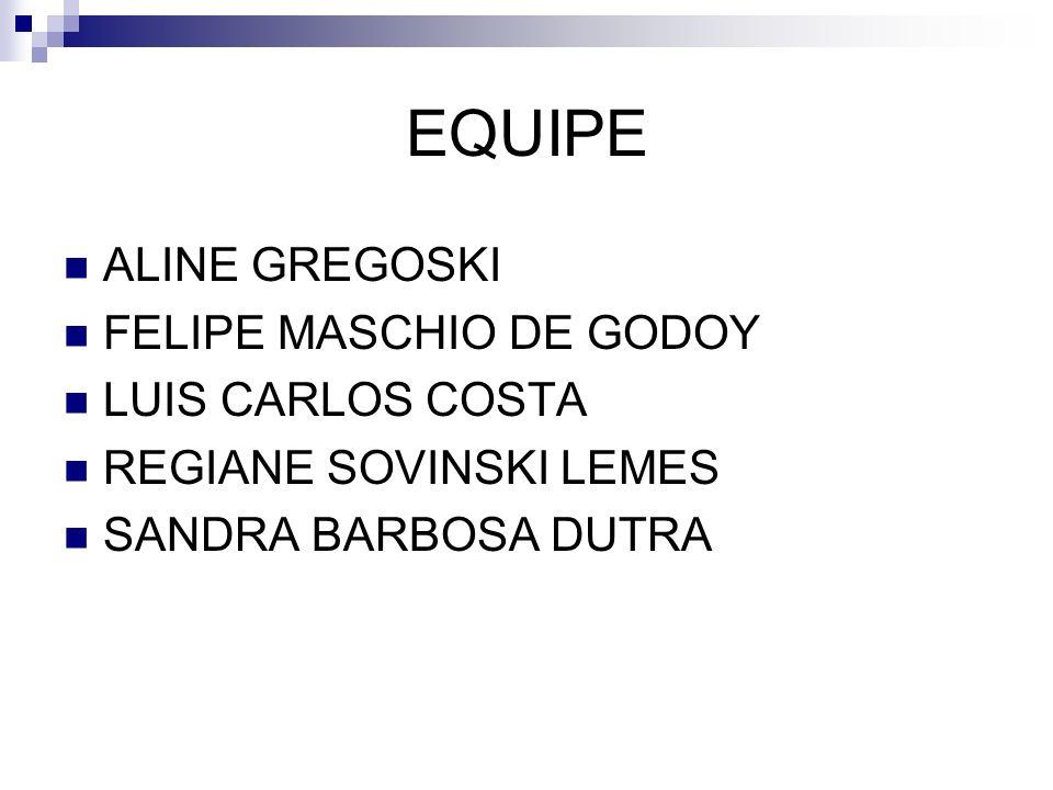 EQUIPE ALINE GREGOSKI FELIPE MASCHIO DE GODOY LUIS CARLOS COSTA