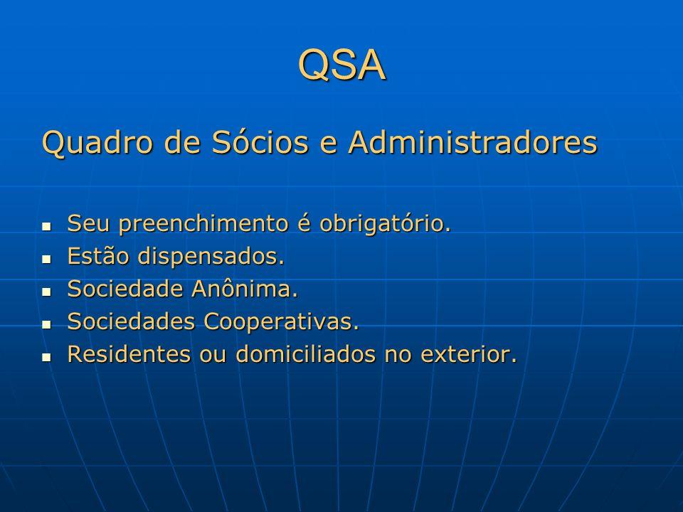 QSA Quadro de Sócios e Administradores