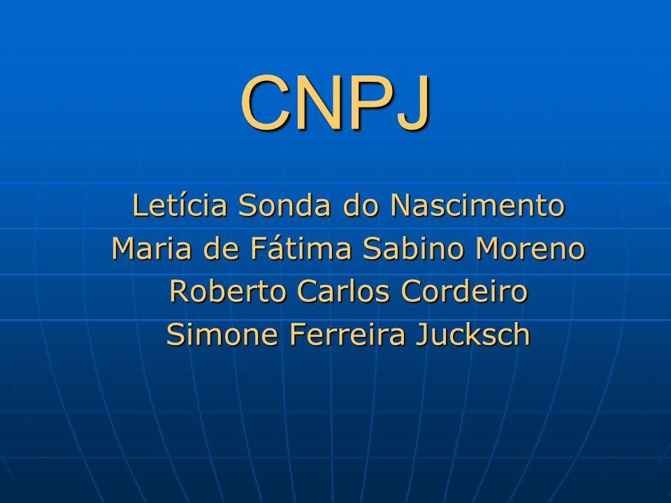 CNPJ Letícia Sonda do Nascimento Maria de Fátima Sabino Moreno