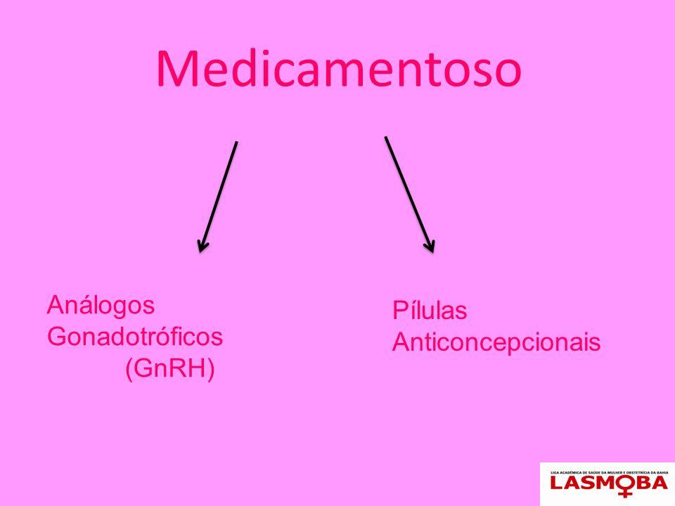 Medicamentoso Análogos Gonadotróficos (GnRH) Pílulas Anticoncepcionais