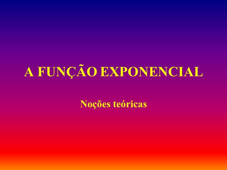 A FUNÇÃO EXPONENCIAL Noções teóricas
