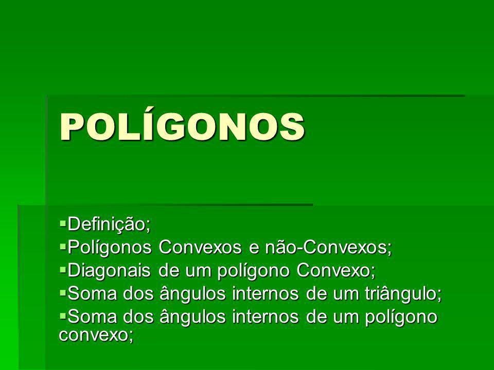 POLÍGONOS Definição; Polígonos Convexos e não-Convexos;