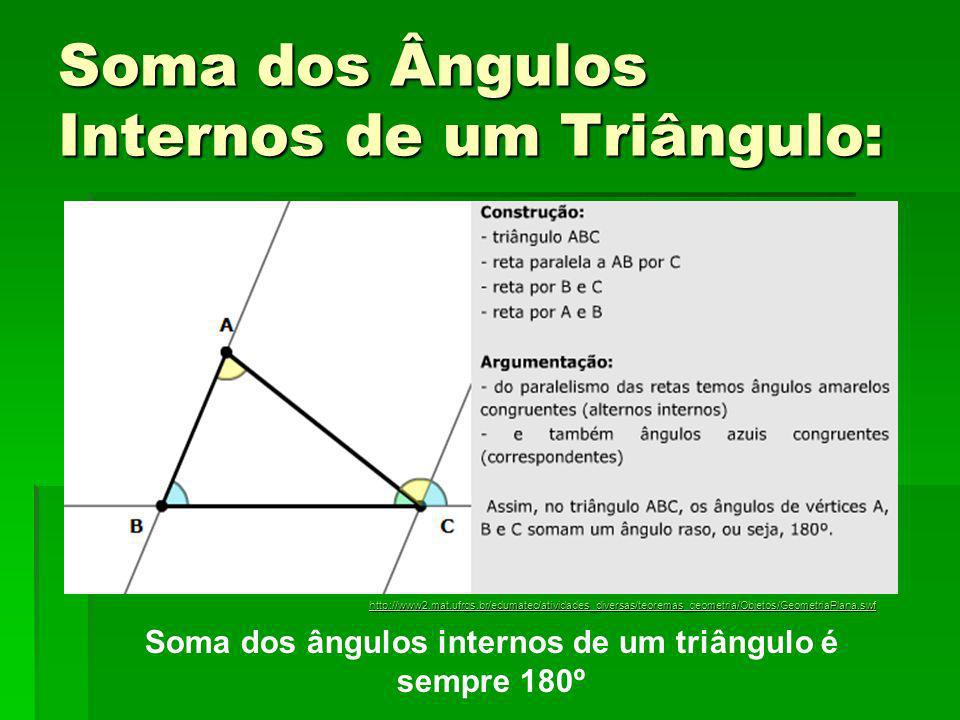 Soma dos Ângulos Internos de um Triângulo: