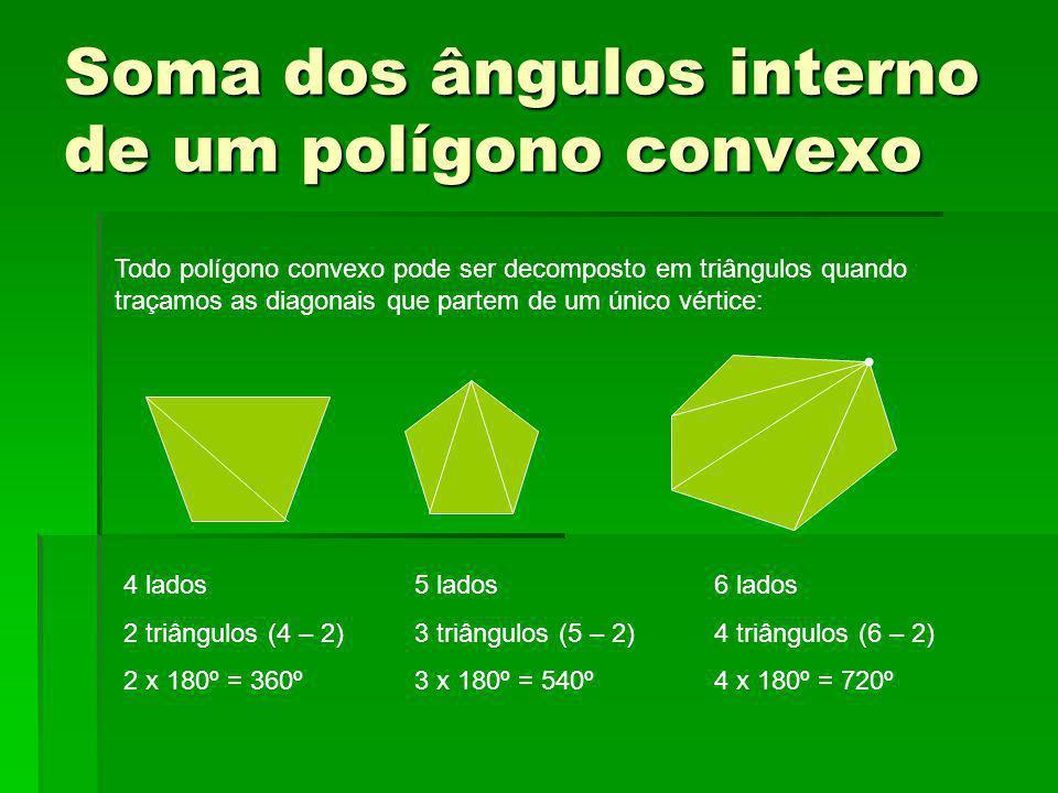 Soma dos ângulos interno de um polígono convexo