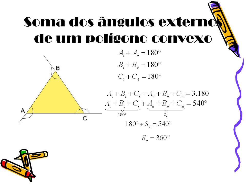 Soma dos ângulos externos de um polígono convexo