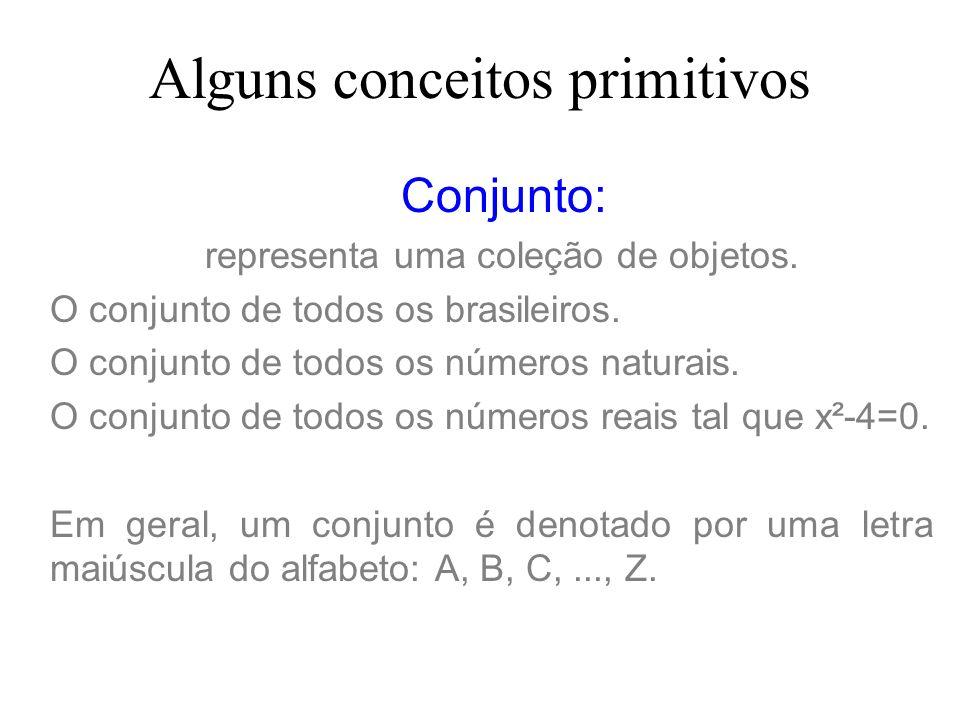 Alguns conceitos primitivos