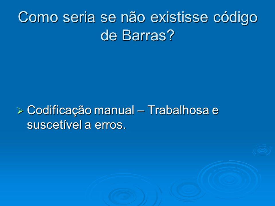 Como seria se não existisse código de Barras