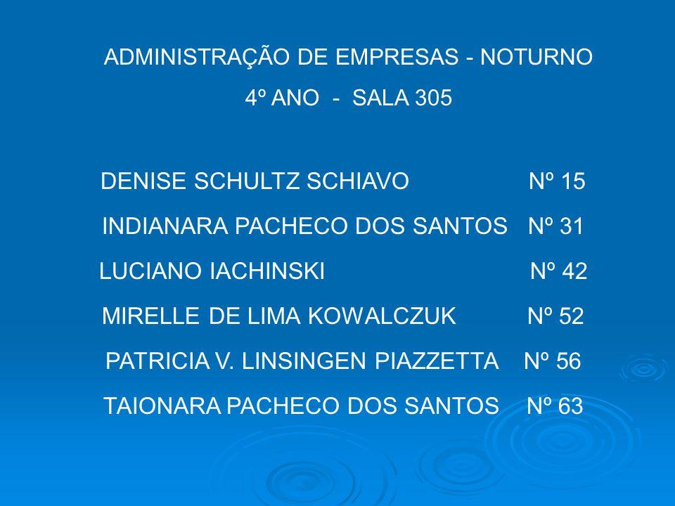 DENISE SCHULTZ SCHIAVO Nº 15 INDIANARA PACHECO DOS SANTOS Nº 31