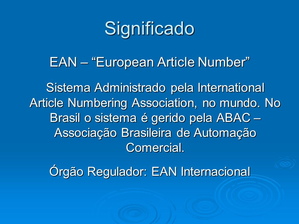 Significado EAN – European Article Number