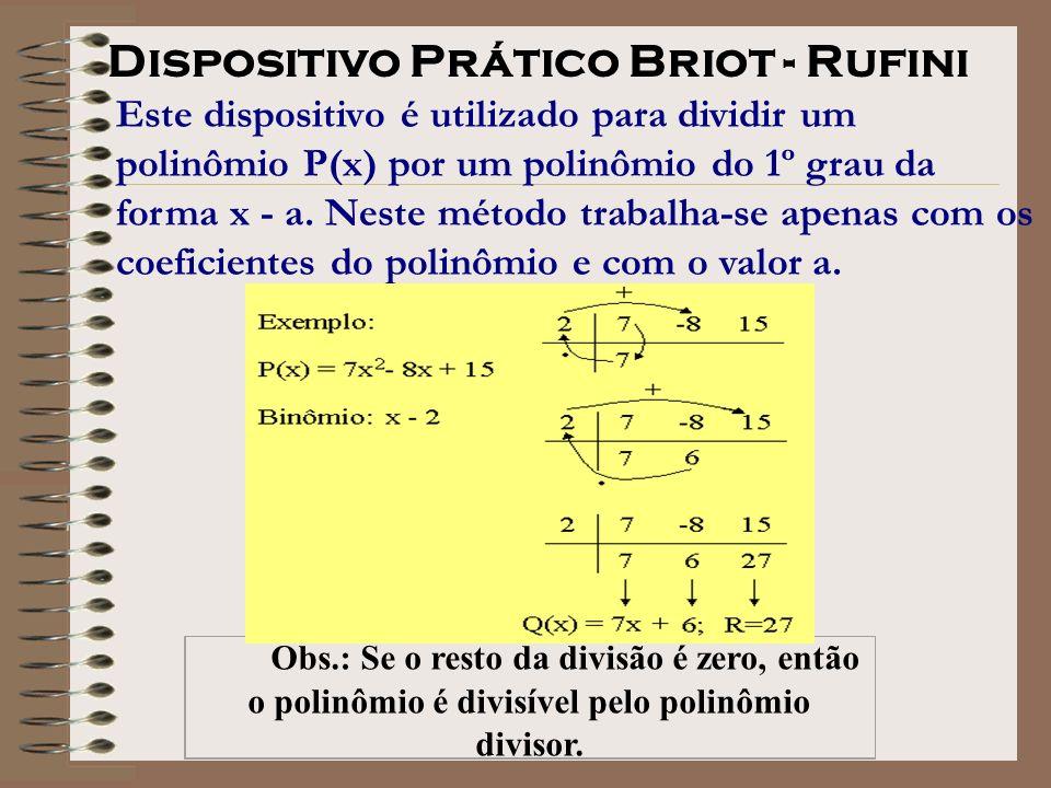 o polinômio é divisível pelo polinômio divisor.