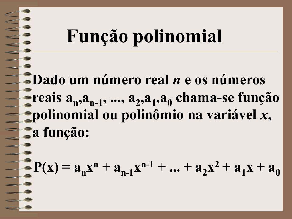 P(x) = anxn + an-1xn-1 + ... + a2x2 + a1x + a0