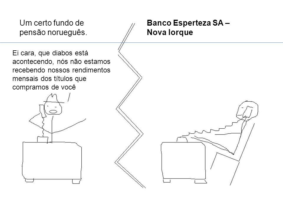 Um certo fundo de pensão norueguês. Banco Esperteza SA – Nova Iorque