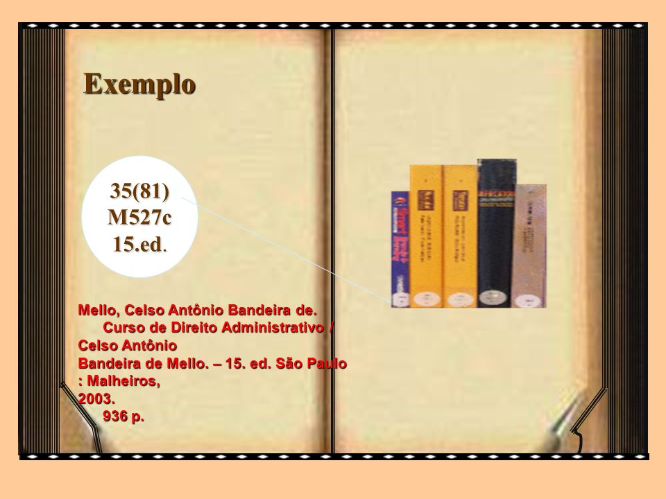 Exemplo35(81) M527c. 15.ed. Mello, Celso Antônio Bandeira de. Curso de Direito Administrativo / Celso Antônio.