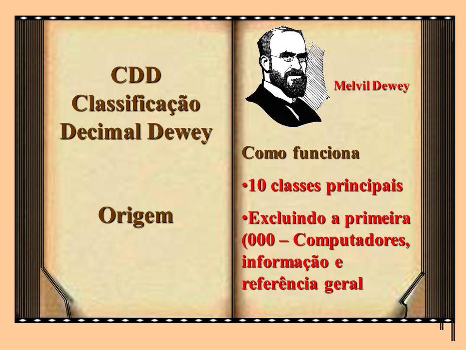 CDD Classificação Decimal Dewey