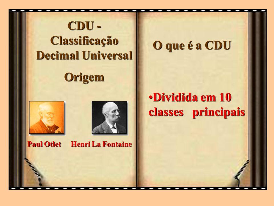 CDU - Classificação Decimal Universal