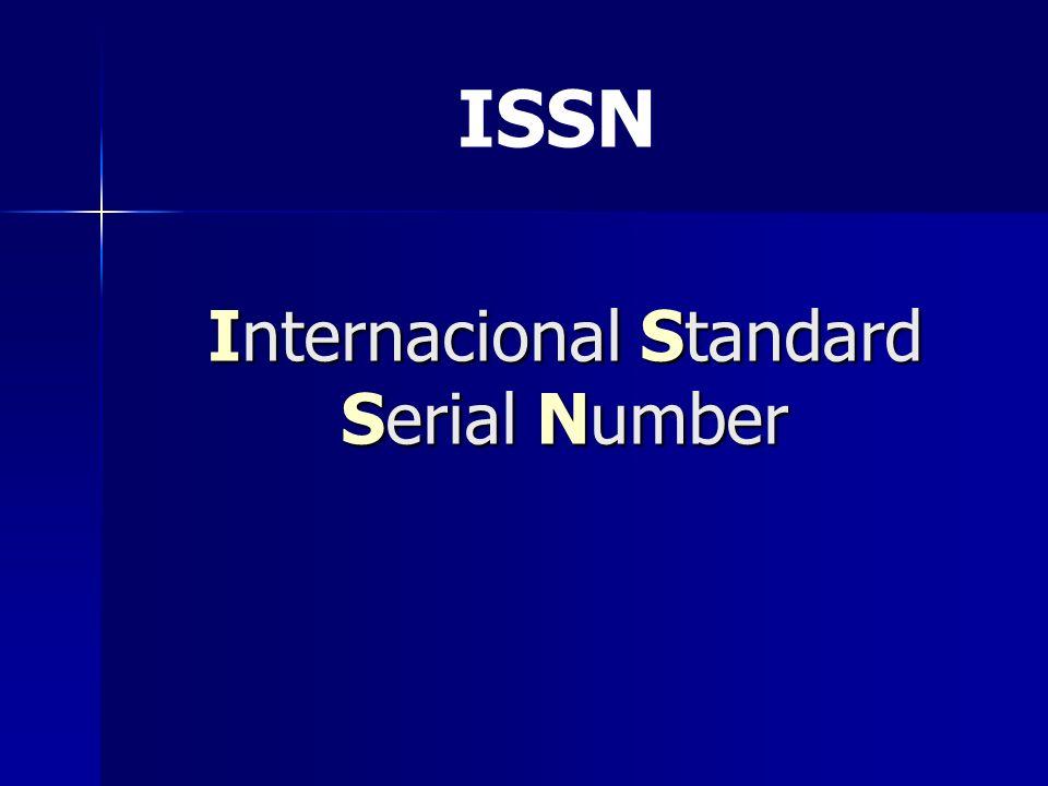 Internacional Standard Serial Number
