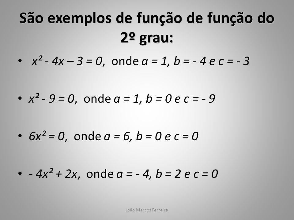São exemplos de função de função do 2º grau: